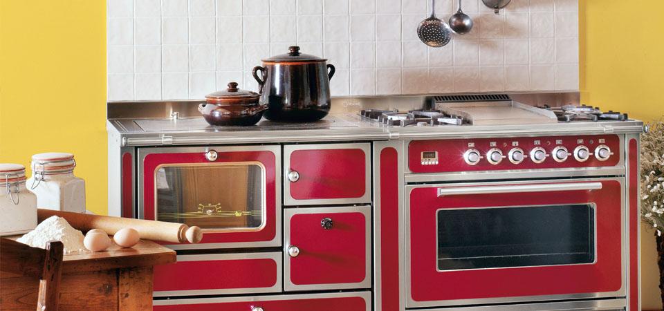 Cucina Combinata Gas Legna. Forni Rame Range Cooker Blocchi Cottura ...